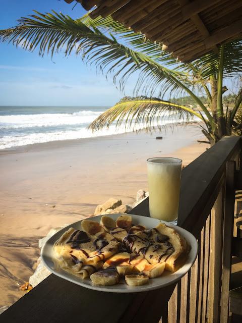 Mic dejun la Dizzy Lizzie's; Kokrobite, Ghana