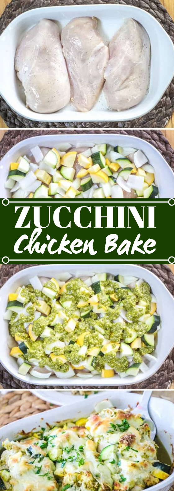 Chicken Zucchini Casserole #chicken #dinner