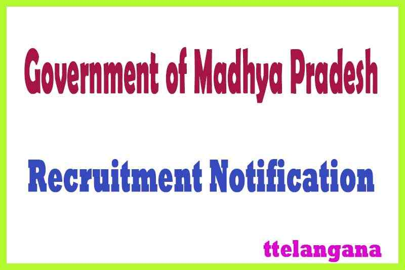 Government of Madhya Pradesh Recruitment Notification