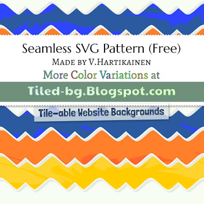 Colorful Background with Waves (Seamless/Repeating SVG & JPG)