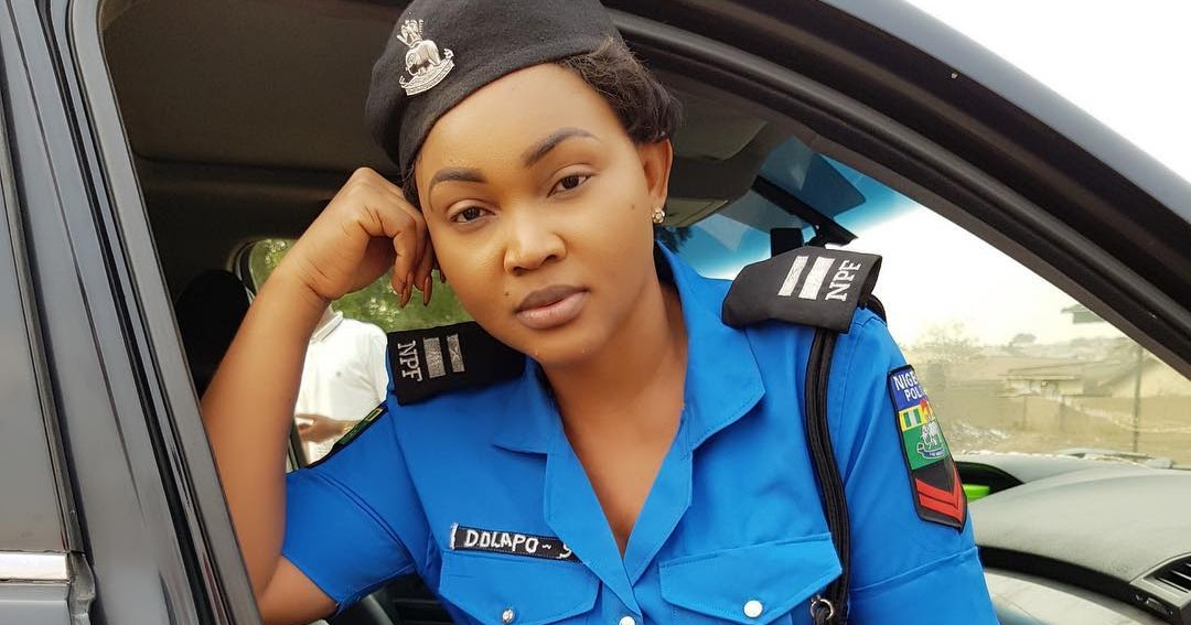Image result for mercy aigbe in police uniform