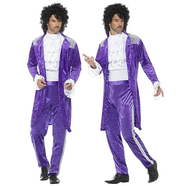MAY 26 - PRINCE PURPLE RAIN Fancy Dress Costume for Men. Become the iconic pop star.