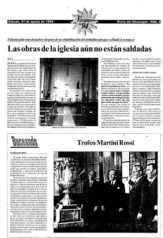 Las obras de la iglesia de Fañanás aún no están saldadas