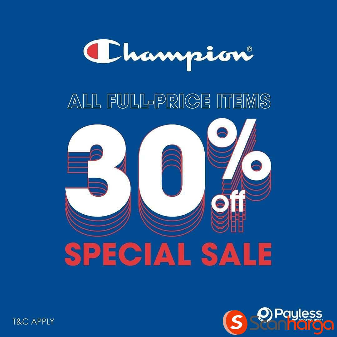 Payless Shoesource Promo Champion Special Sale Discount 30%