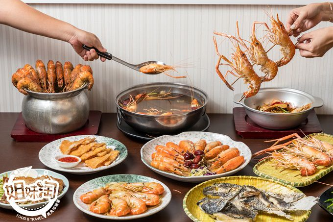 北高雄泰國蝦料理-超鮮肥美的的紅頭泰國蝦-水明蝦美術館店