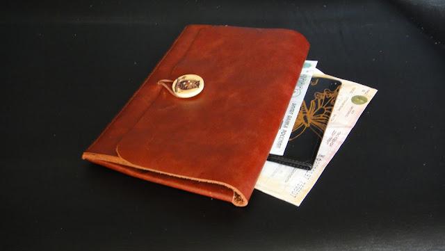 Кожаный конверт для билетов - подарок женщине, конверт для билетов. Натуральная кожа