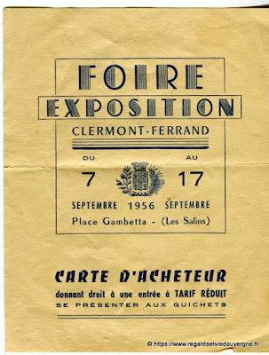 Foire exposition de Clermont-Ferrand, 1956