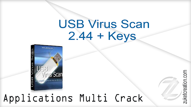 USB Virus Scan 2.44 + Keys   |  20 MB