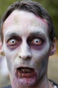 Zombie Halloween Makeup Man 2016