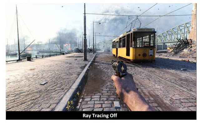 BattleField V game before activating the RayTracing feature