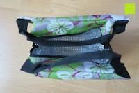 oben: Aosbos Wasserdichte Lunch Tasche Isolierte Thermo Picknicktasche für Lebensmitteltransport(Grün Blumen)
