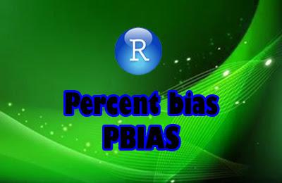 Percent bias   Calculate PBIAS using R Studio