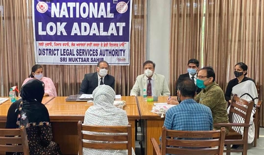 पंजाब में नेशनल लोक अदालत के दौरान 378 बैंचों के सामने 86,204 मामलों पर सुनवाई