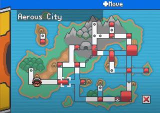 Pokemon Gaia en Español GBA Mapa Region Orbtus