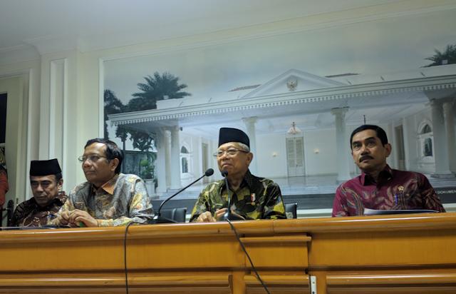 Aliran Uang Jiwasraya Masuk ke Dana Kampanye Jokowi-Maruf, Wapres: Kita Tunggu Saja