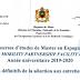 إسبانيا: منح الماستر، نتائج المقابلات الشفوية، اللائحة الرئيسية، 2019/2020