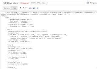 Cara Memasang Widget Statistik Update Virus Corona di Website