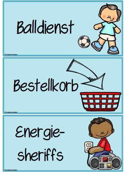 Ordnungsdienst klassenzimmer  Grundschul-Ideenbox: Klassenraumorganisation: Dienste - Wünsche ...