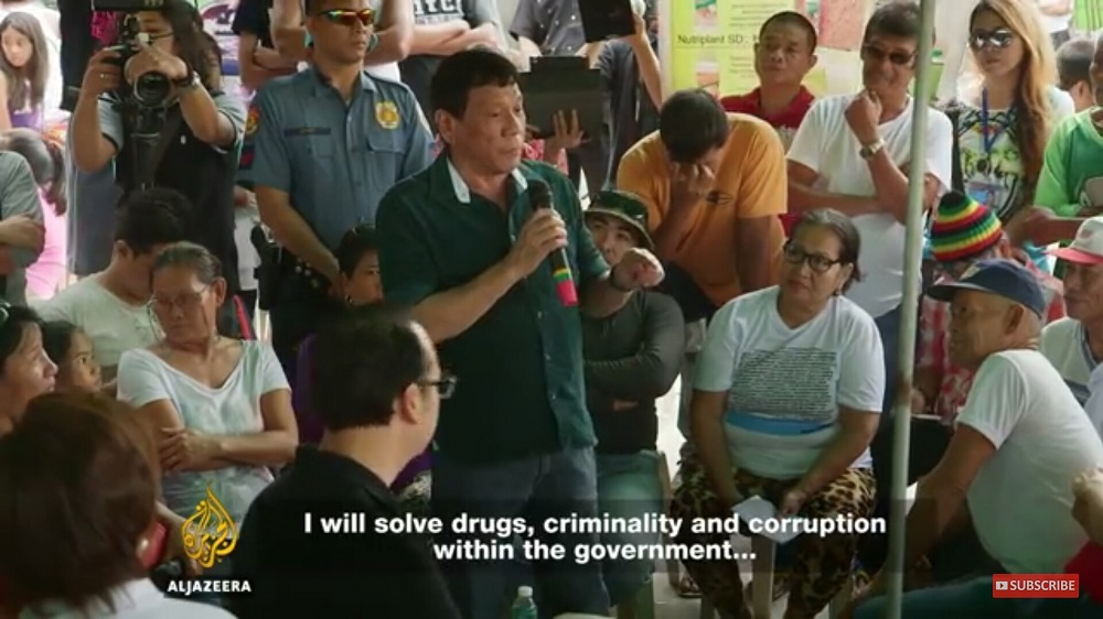 Aljazeera interview with President Rodrigo Duterte