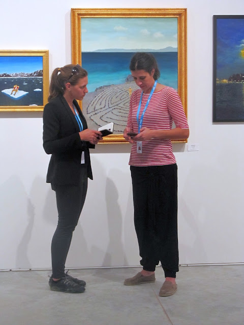 Laura Beth Konopinski and Audrey Wilson at Context Art Miami 2017