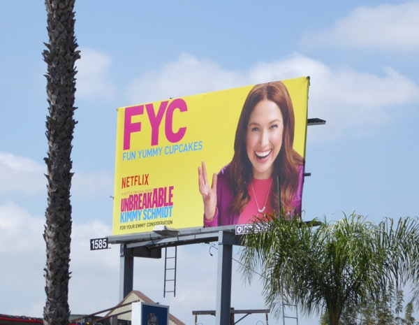 Kimmy Schmidt FYC 2016 Emmy billboard