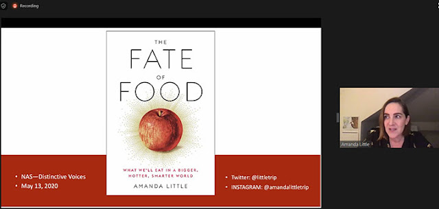 """Amanda Little talks about the fate of food with global warming (Source: Amanda Little, """"The Fate of Food"""")"""