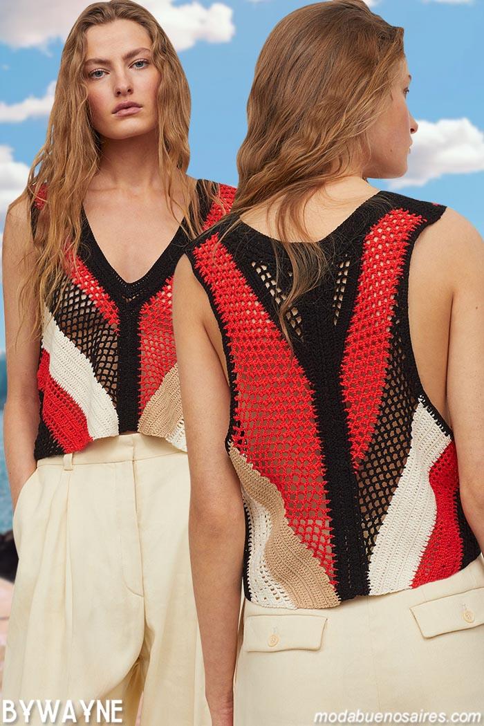 moda verano 2021 remera red