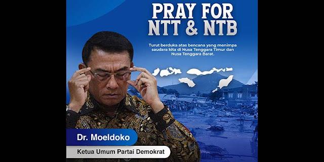 Atas Nama Partai Demokrat, Moeldoko Ucapkan Turut Prihatin Banjir Bandang NTT Dan NTB