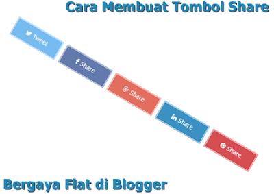 Cara Membuat Tombol Share Bergaya Flat di Blogger