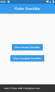 tutorial flutter snackbar