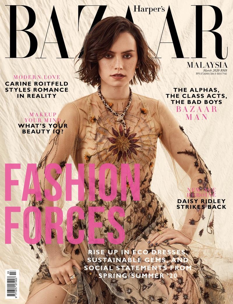 Daisy Ridley by Lara Jade for Harper's Bazaar Malaysia