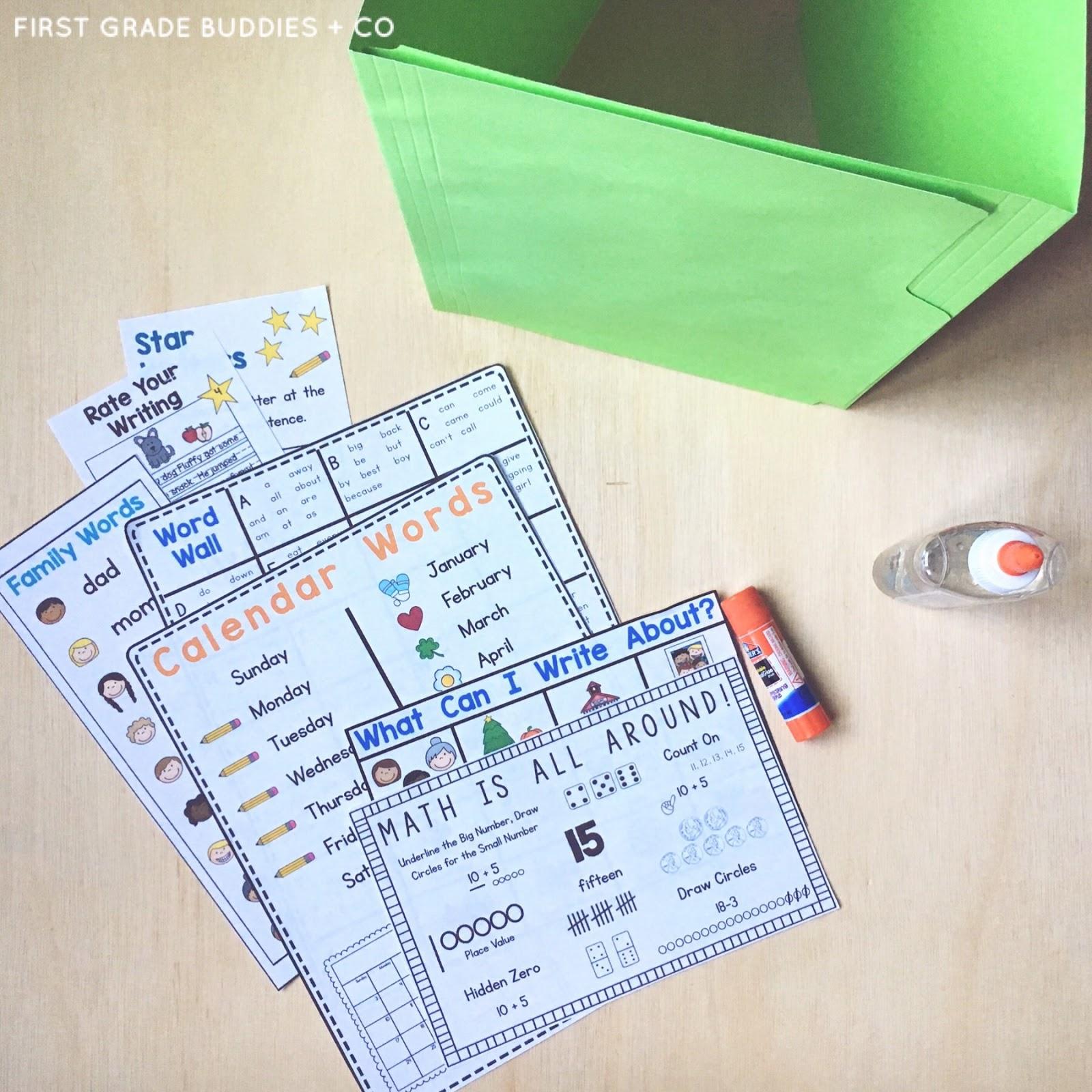 handy helper folder   a writing workshop tool   first grade