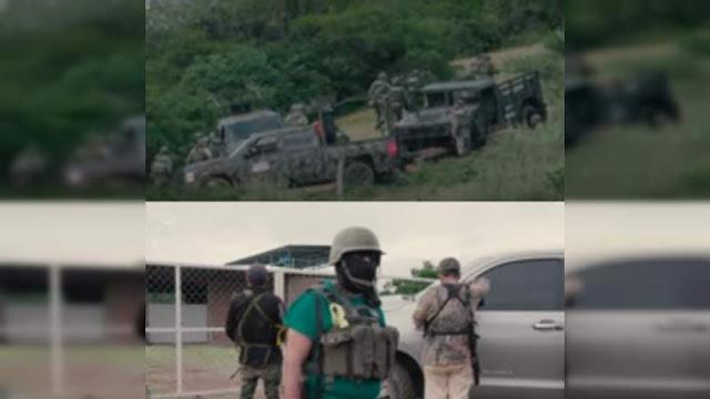 Militares ayudando a El Cártel de Tepalcatepec (C.U) contra sus rivales de El CJNG