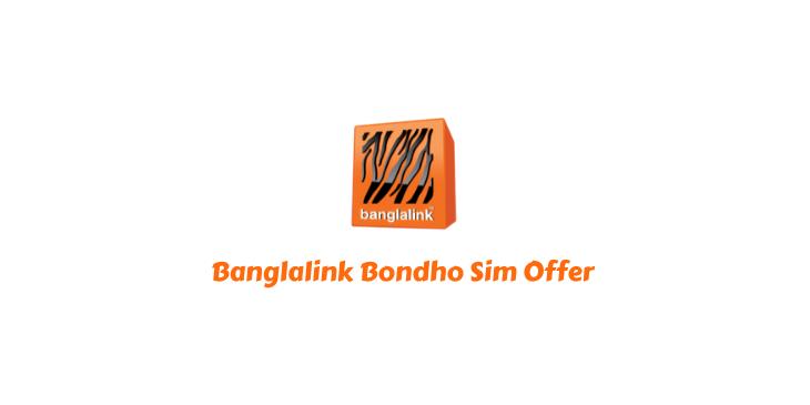 Banglalink Bondho Sim Offer 2021