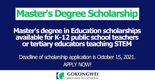 Master's degree in Education scholarships available for K-12 public school teachers or tertiary educators teaching STEM | TeachSTEM