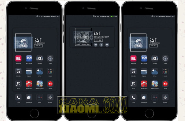 Download Tema MIUI GWAD Alta Simple Dark Vol 2 For Xiaomi V8 Theme