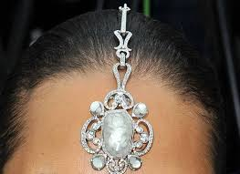 usa news corp, Bushra Farrukh, Wedding Tikka Headpiece, blue stone head piece in Gambia, The, best Body Piercing Jewelry