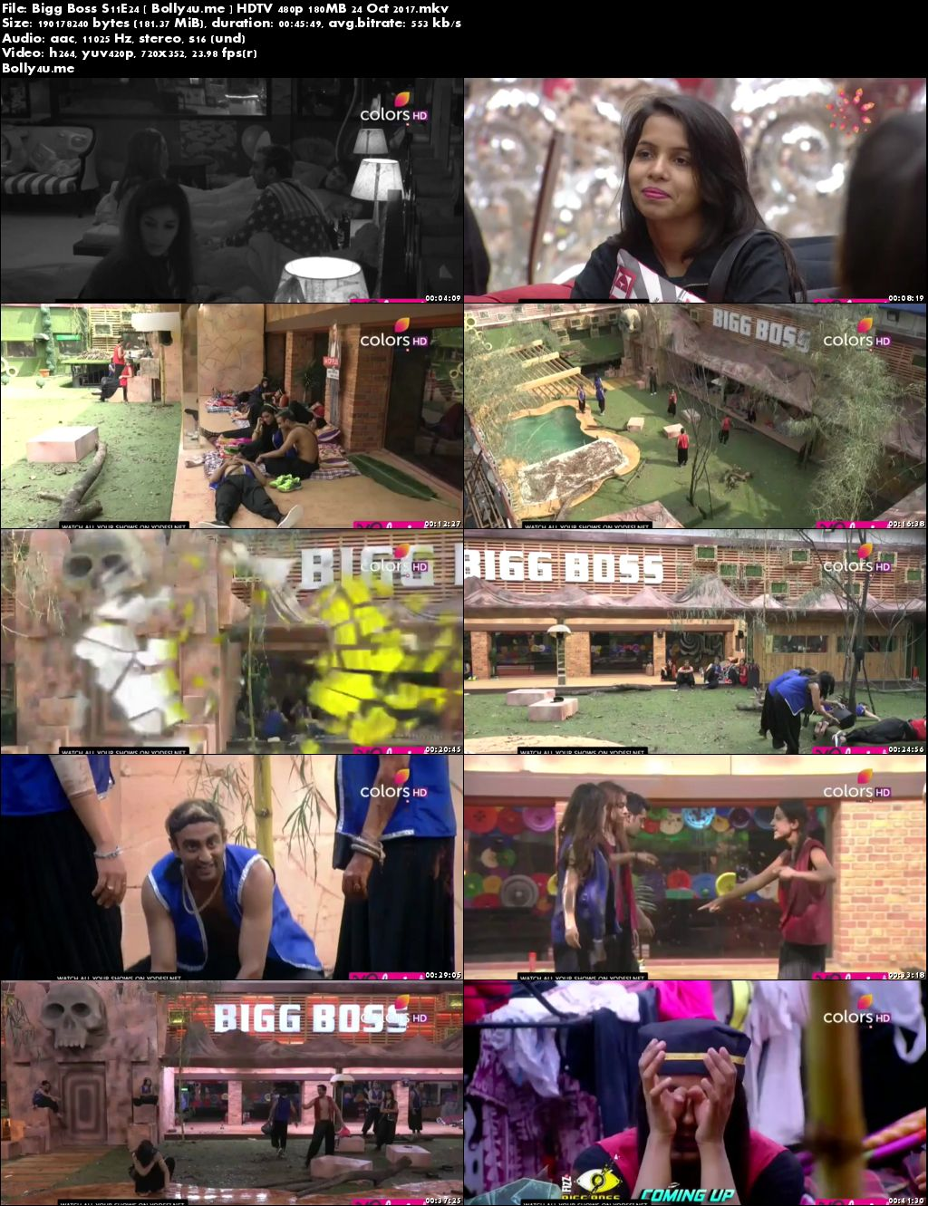 Bigg Boss S11E24 HDTV 480p 150MB 24 Oct 2017 Download
