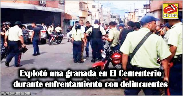 Explotó una granada en El Cementerio durante enfrentamiento con delincuentes