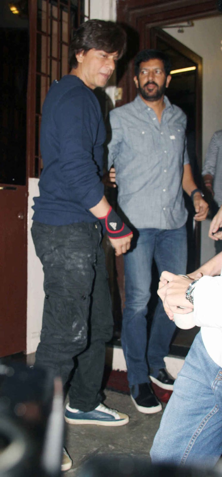 Shah Rukh khan and Kabir Khan at Shankar Mahadevan's Studio In Bandra