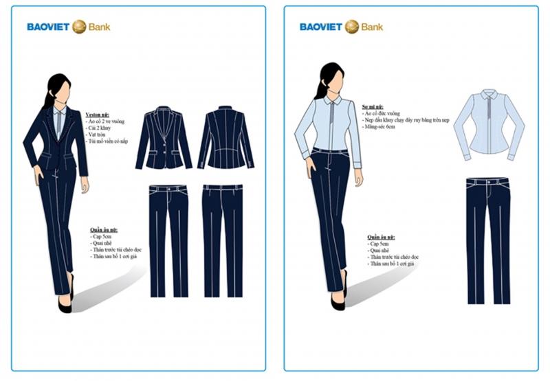 Mẫu thiết kế đồng phục ngân hàng Bảo Việt Bank