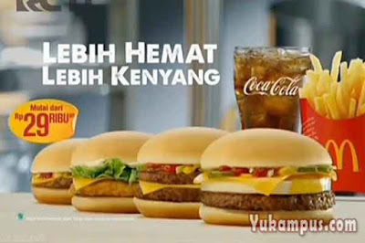 contoh iklan televisi makanan sehat