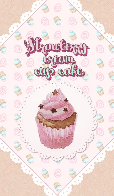 Strawberry Cream Cup Cake