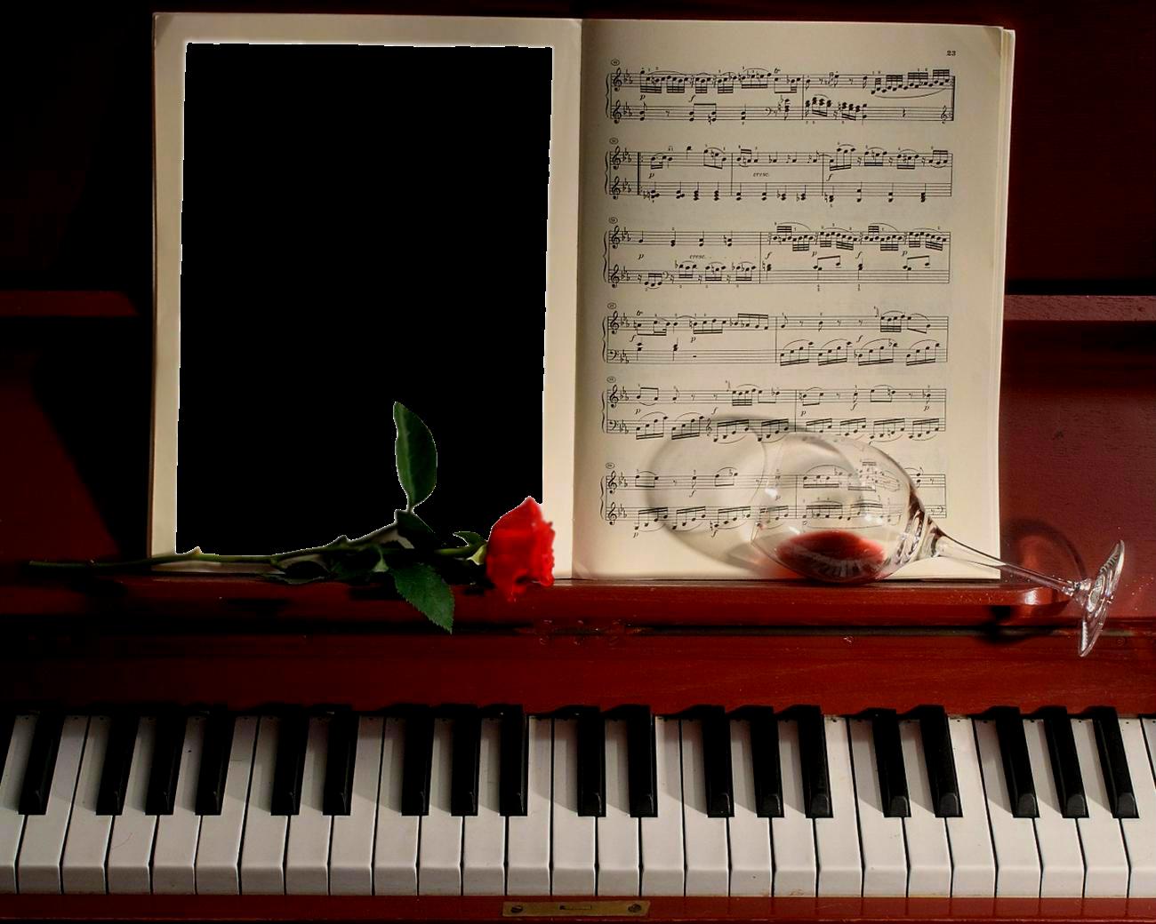 Бесплатный шаблон музыкальной открытки, маме
