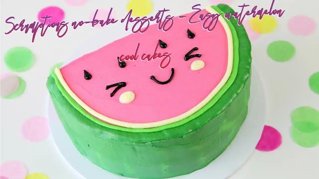 Scrumptious no-bake desserts - Easy watermelon cool cakes