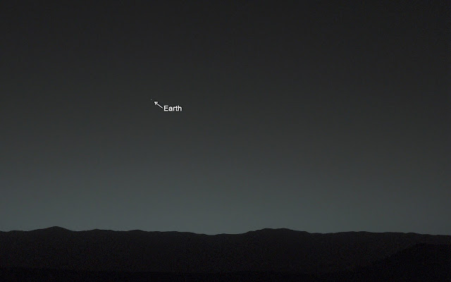 Earth seen from Mars