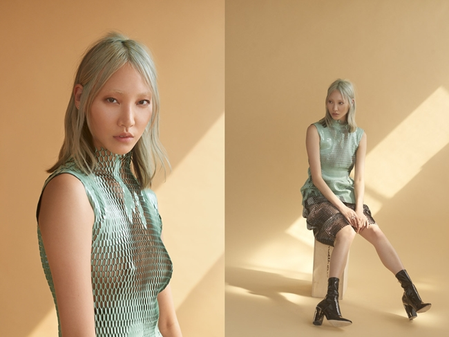 Christian Dior 2015 AW RTW Aqua Laser-Cut Patent Leather Top Editorials