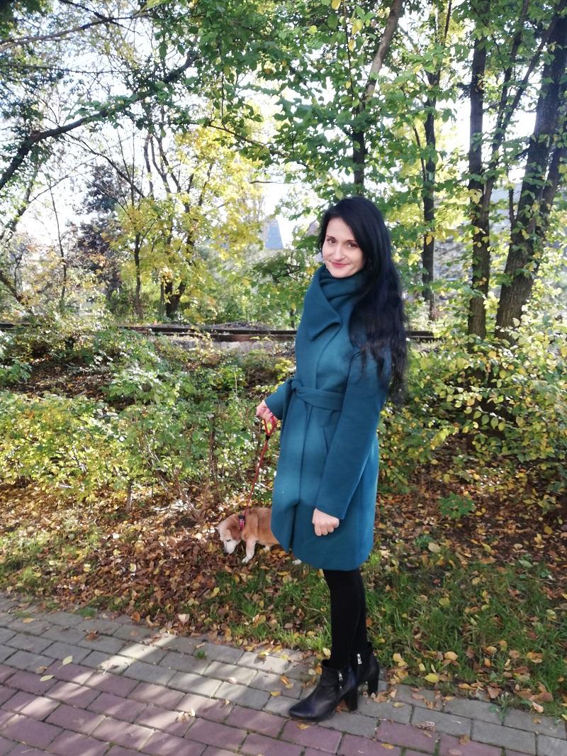 Orsay zielony płaszcz