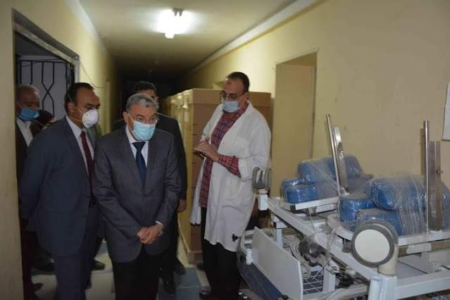 محافظ المنيا : انشاء وتطوير واحلال وتجديد ورفع كفاءة عدد من المستشفيات العامة، والمركزية ، بتكلفة 870 مليون جنية