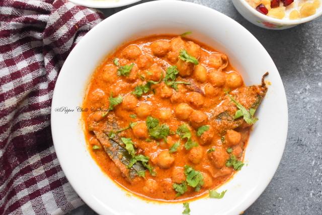 chana masala coconut curry